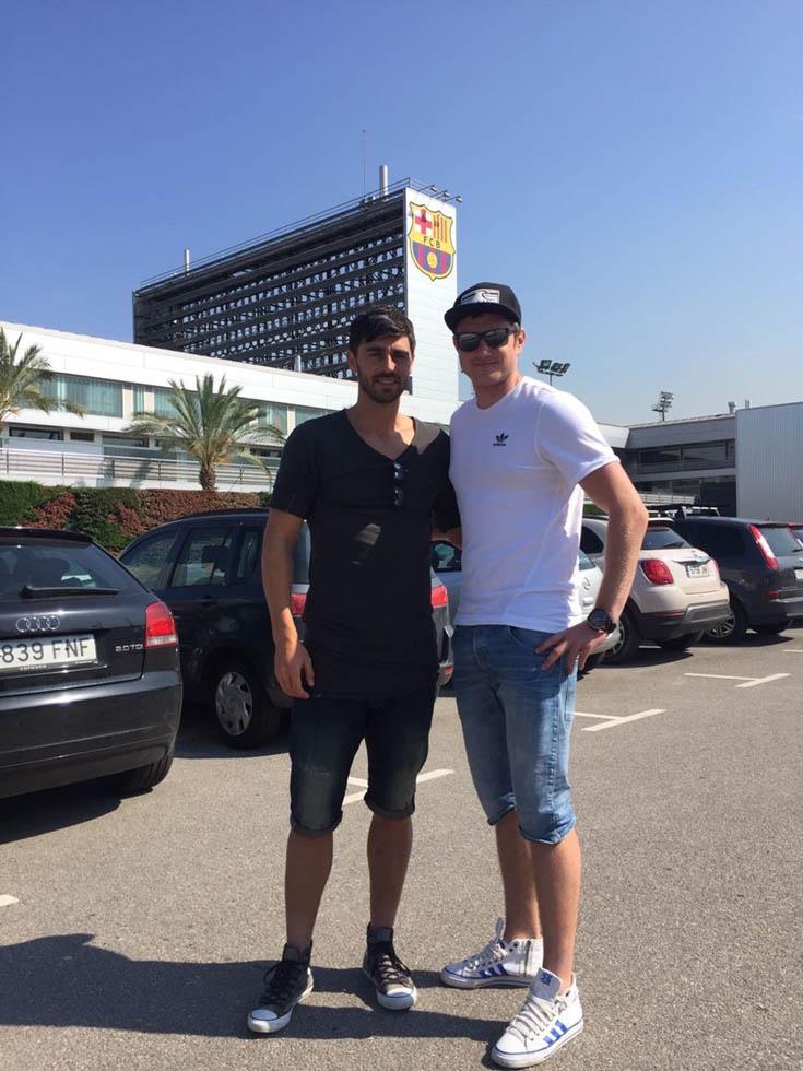 Libor Volf and Zdenek Klesnil in La Masia (FC Barcelona)