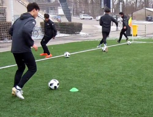 Training session with Chinese team Shengle F.C